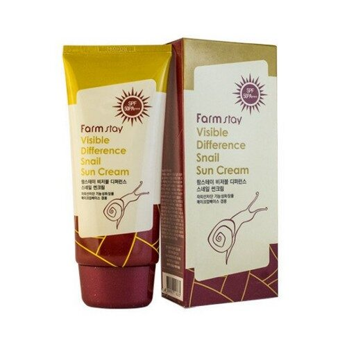 Farmstay Visible Difference Snail Sun Cream SPF50